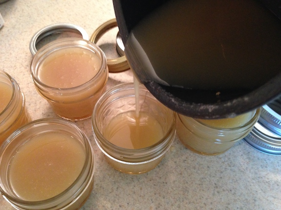 Add Salted Caramel to canning jars