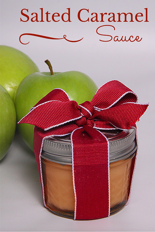 Salted Caramel Sauce - Great for apples, ice cream, hot cocoa and more