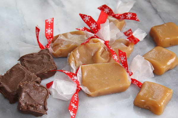 Wrap caramels in wax paper for gift giving