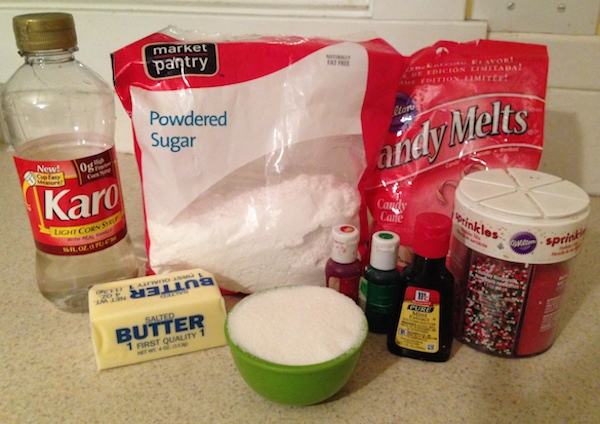 Ingredients for peppermint patties