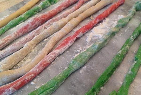 Roll dough into long strips