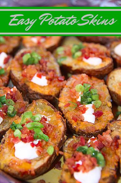 Easy Potato Skins with all the toppings