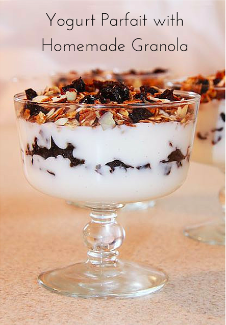 Yogurt Parfait with Homemade Granola using Sunsweet Diced Prunes