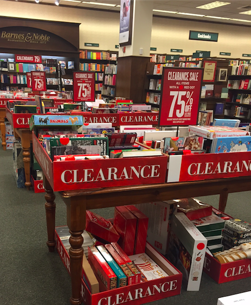 Image result for barnes and noble clearance