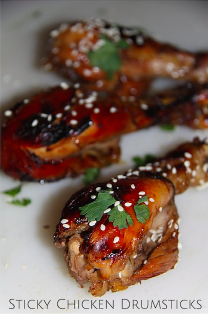 Slow Cooker Sticky Chicken Drumsticks