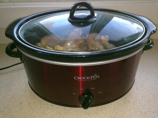 cook chicken in slow cooker