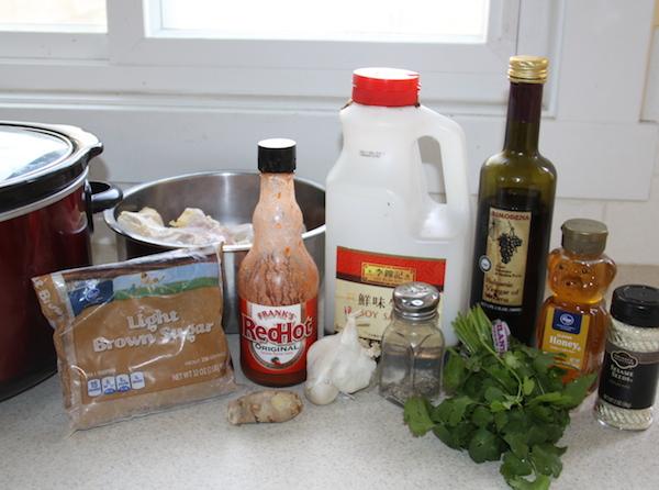 Ingredients for Sticky Chicken Drumsticks