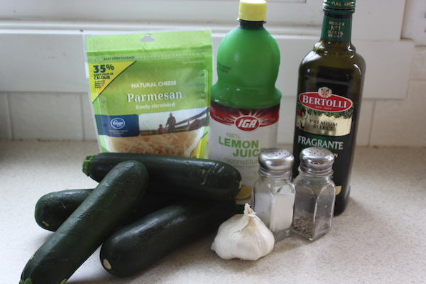 Baked Parmesan Zucchini ingredients