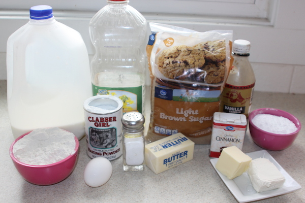 Cinnamon Roll Pancakes ingredients