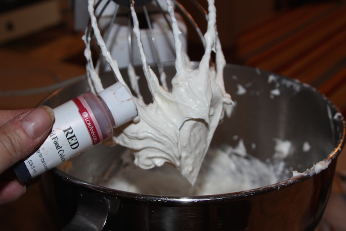 add vanilla and food coloring
