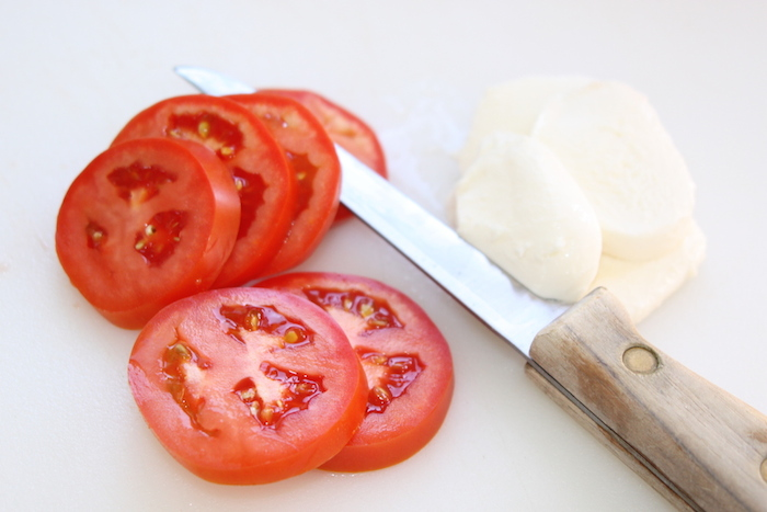 tomato and mozzarella