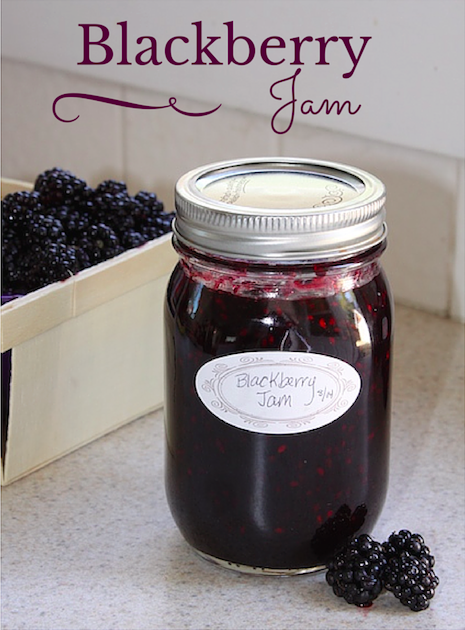 Blackberry Jam - Super easy to can!