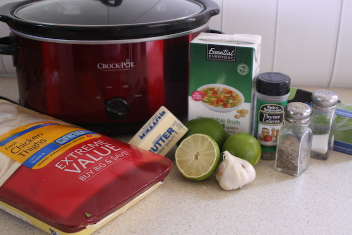 Lime Garlic Chicken in Slow Cooker