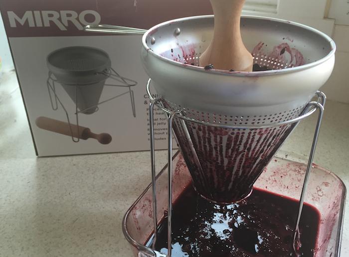 Use Food Press to juice blackberries
