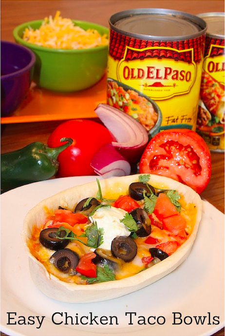 Old El Paso Easy Chicken Taco Bowls
