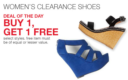 4015ecdaf8 Macy's: Women's Clearance Shoes Buy One Get One FREE. Leave a comment ·  macys new shoe deal pic