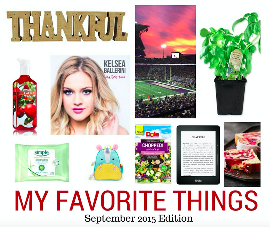 My Favorite Things - September 2015