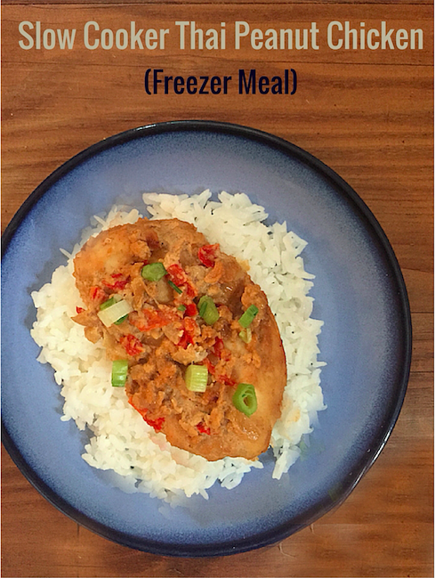 Slow Cooker Thai Peanut Chicken (also a great freezer meal)