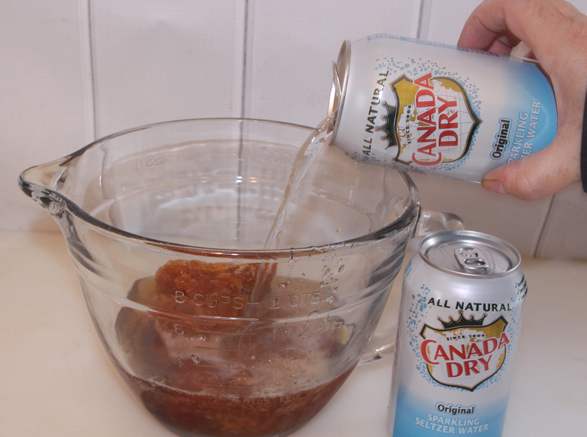 Combine Juice Concentrate and Canada Dry