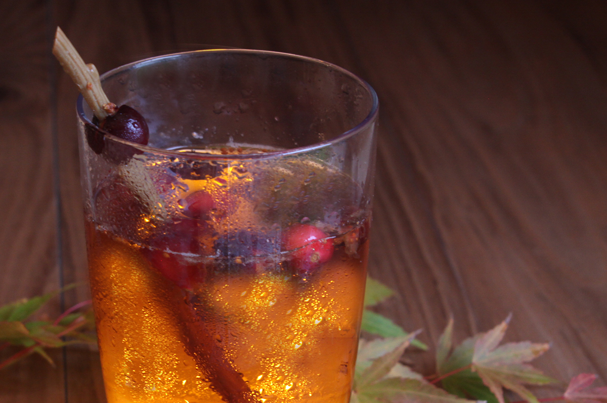 Holiday drink Sparkling Apple Cranberry Seltzer