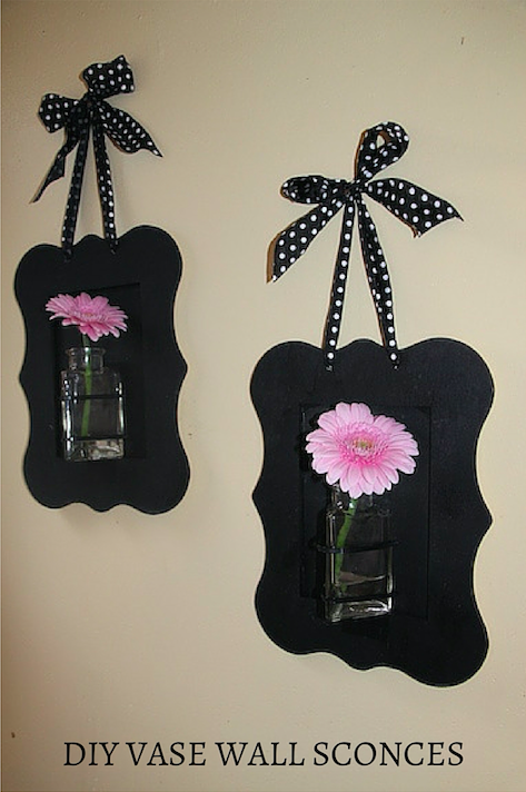 DIY Vase Wall Sconces