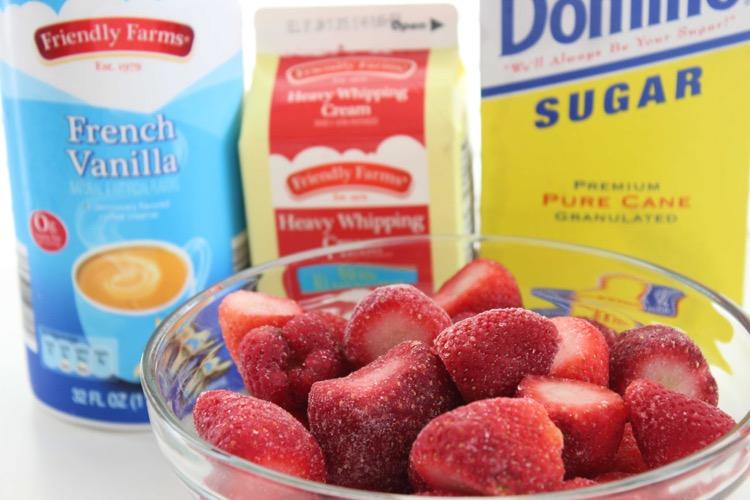 Strawberries and Cream Shake ingredients