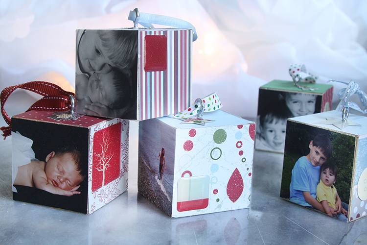 Keepsake photo ornaments