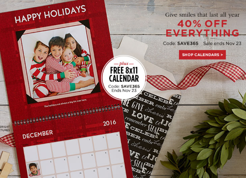 shutterfly free 12 month calendar 40 off everything