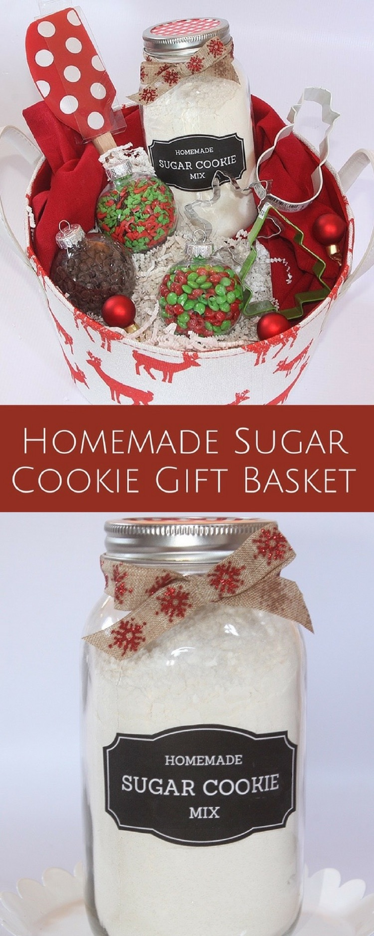 Homemade sugar cookie gift basket