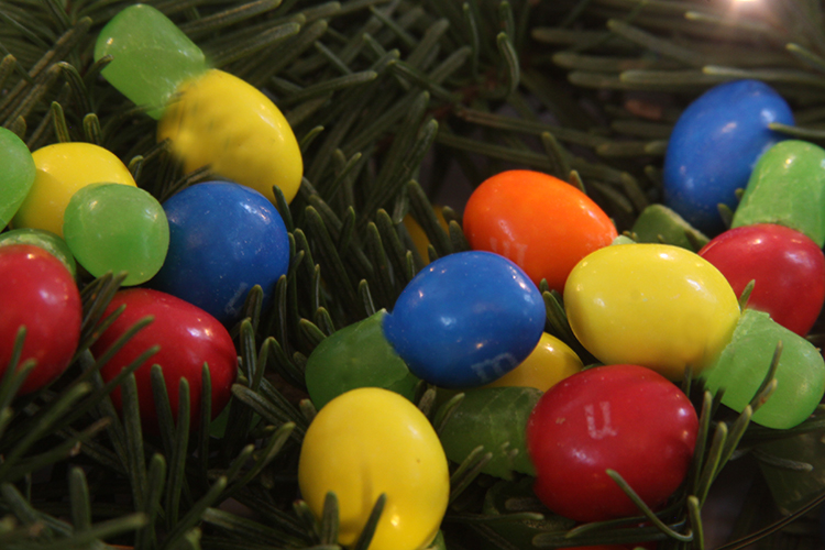 Candy Christmas Lights. Great for kids to make