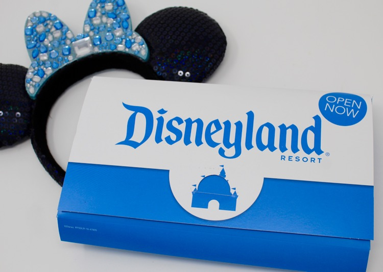 Costco Disneyland Tickets package with mouse ears.