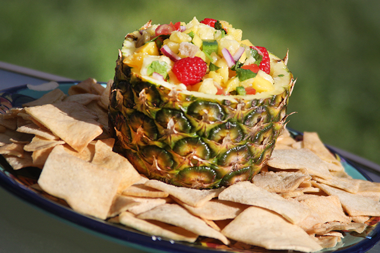 Fruit Salsa with pita chips