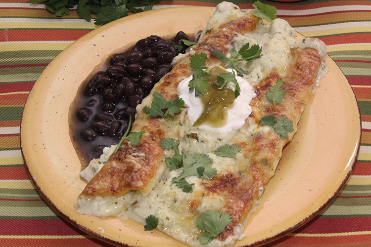 Quick and Easy Chicken Enchiladas with White Cream Sauce