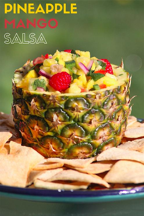 Pineapple Mango Salsa with Pita Chips