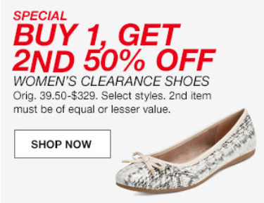daa07b0717c Macy's is having a HUGE Memorial Day sale today and one of their super  deals is buy one get one 50% off women's clearance shoes, no code needed,  ...
