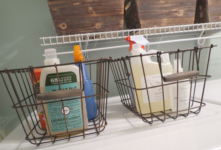 Baskets laundry room