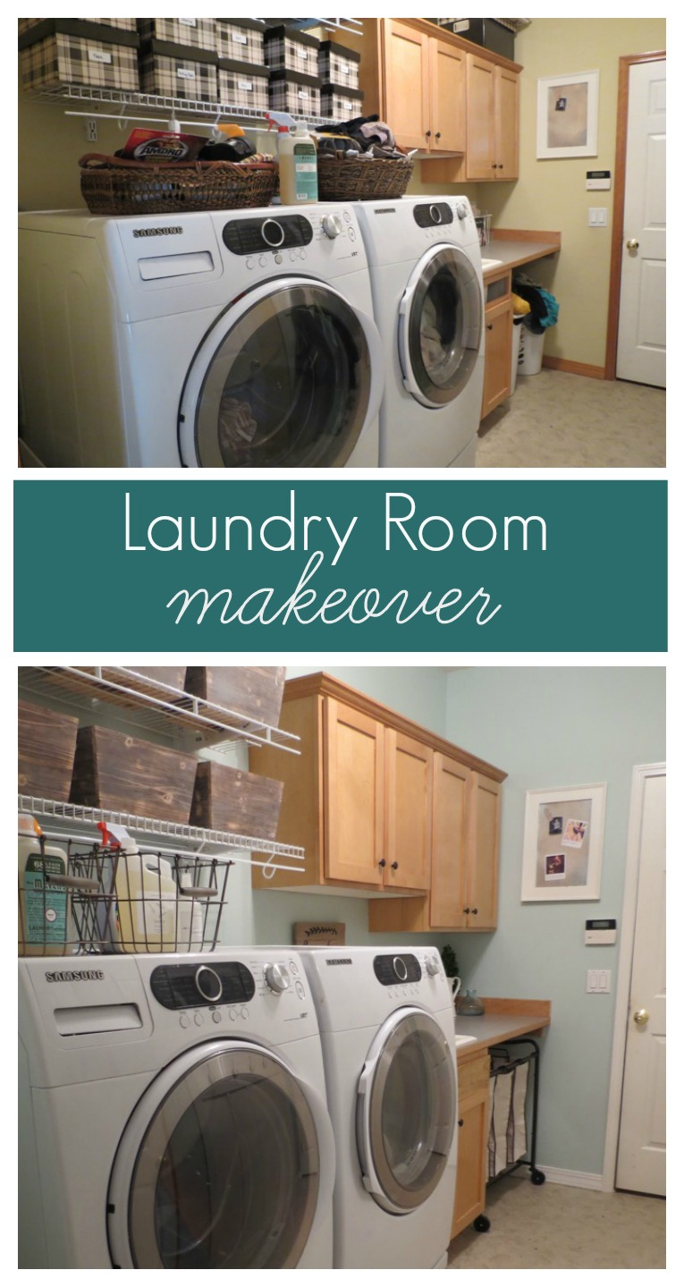 Laundry Room Makeover with Olympic Paint at Lowes