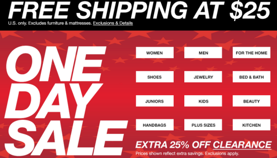 9a036e3afca8 Macy s One Day Sale  Extra 25% off Clearance   more - Thrifty and ...