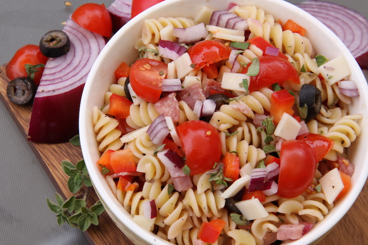 Italian Pasta Salad with fresh veggies