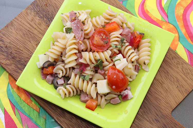 Italian Pasta Salad with homemade dressing
