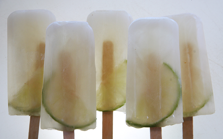 Limeade Coconut Popsicles with Torani