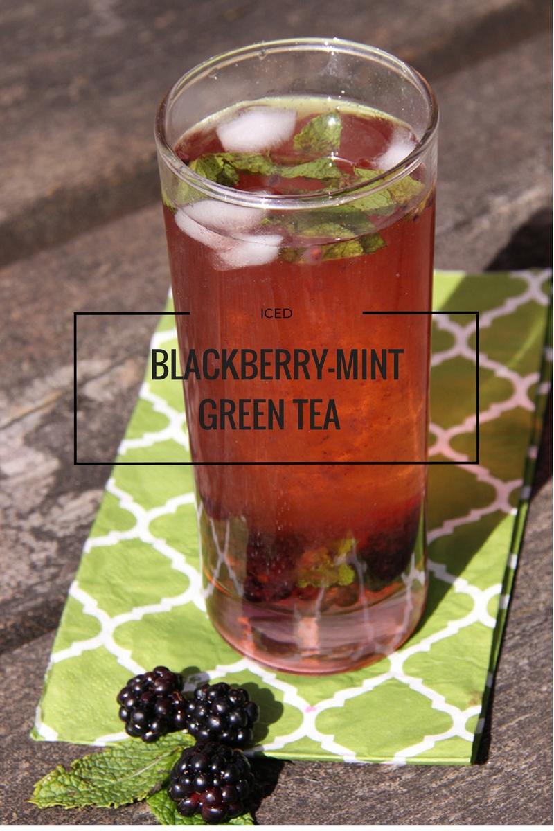 Iced Blackberry-Mint Green Tea