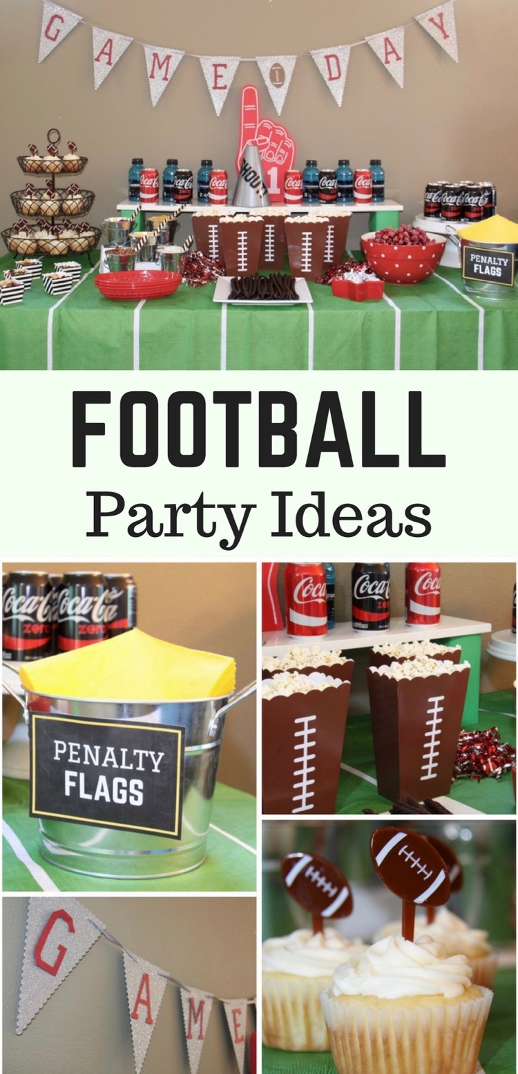 Football Party Ideas and Kids' Pennant Craft