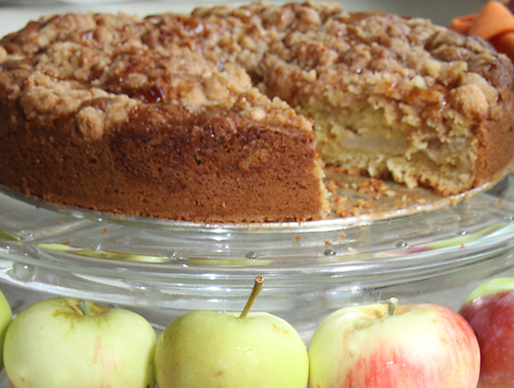 Coffee Cake with Apples and Caramel