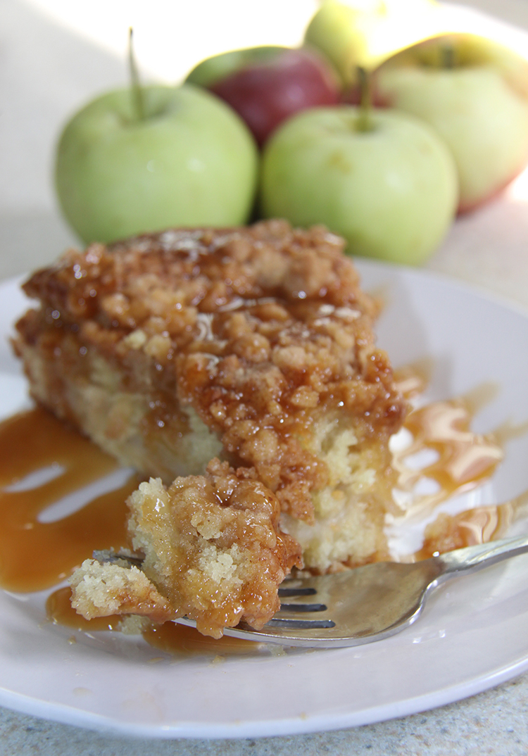Caramel Apple Coffee Cake with Streusel Topping