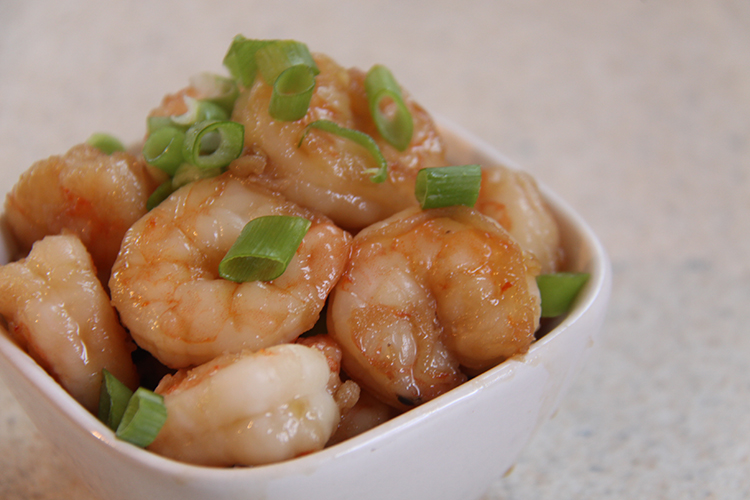 Shrimp with Honey and Garlic