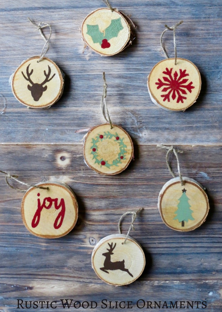 Rustic Wood Slice Ornaments Thrifty And Thriving
