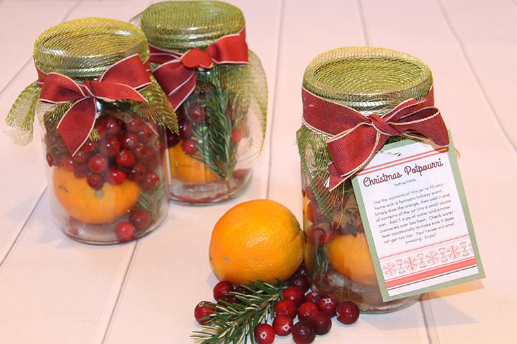Christmas Potpourri Jars
