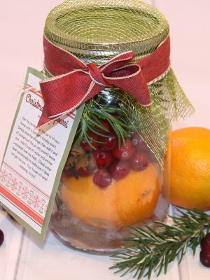 Christmas Potpourri Gift in a Jar