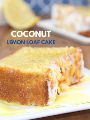 Coconut Lemon Loaf Cake